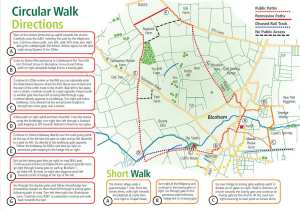 Map of circular walk